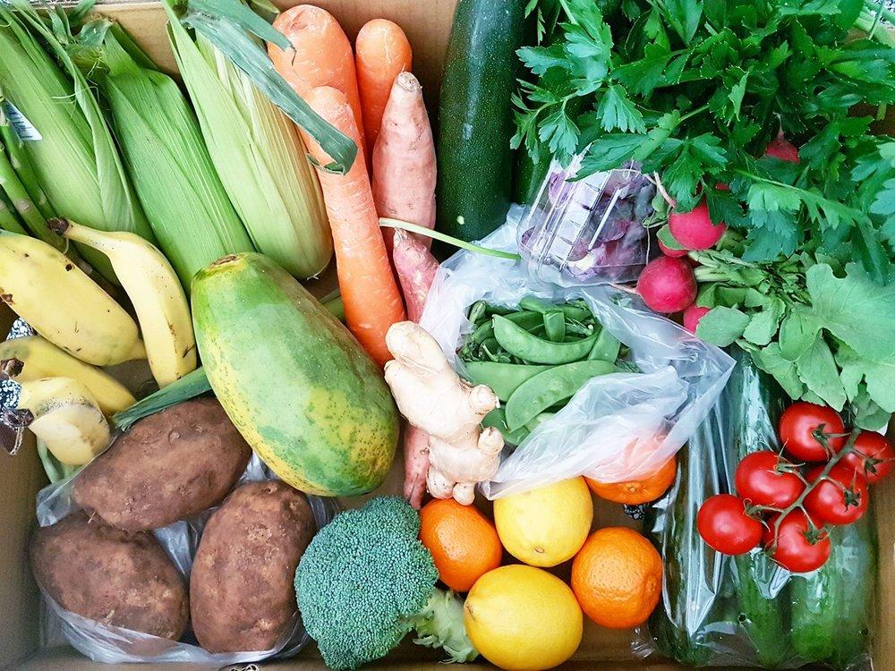 Eat a rainbow vegetables