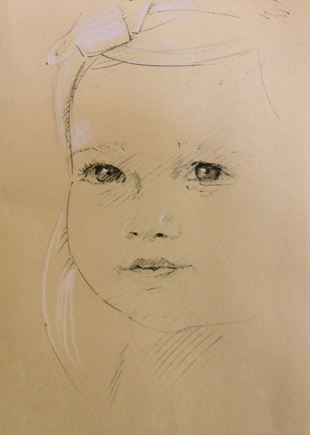 Portrait 2011, Pen and Conte