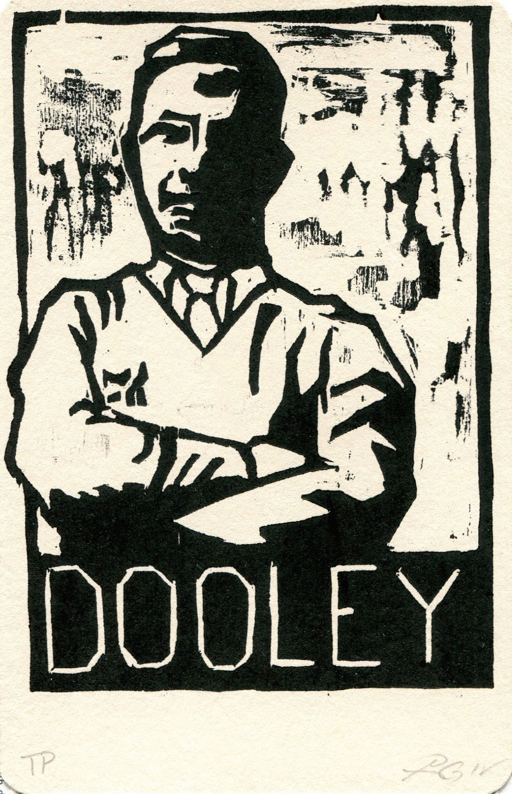 "Dooley, Heroes of the Southland 2016, 3.75""x5.75"""