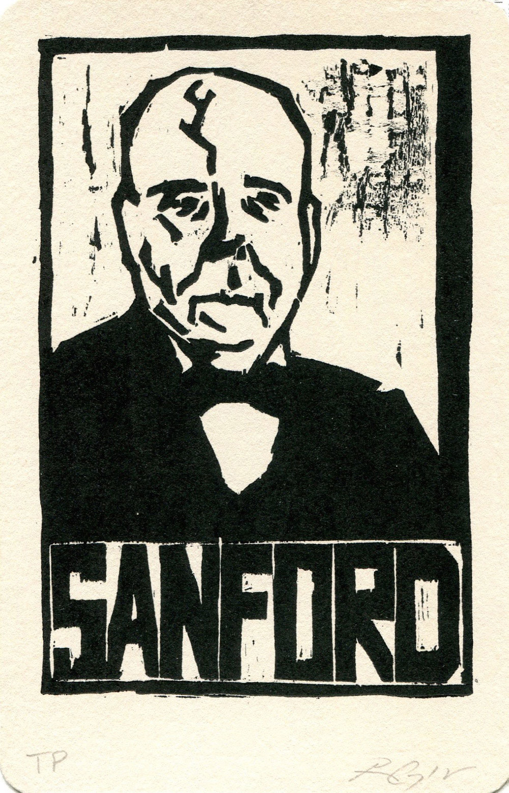"Sanford, Heroes of the Southland 2016, 3.75""x5.75"""
