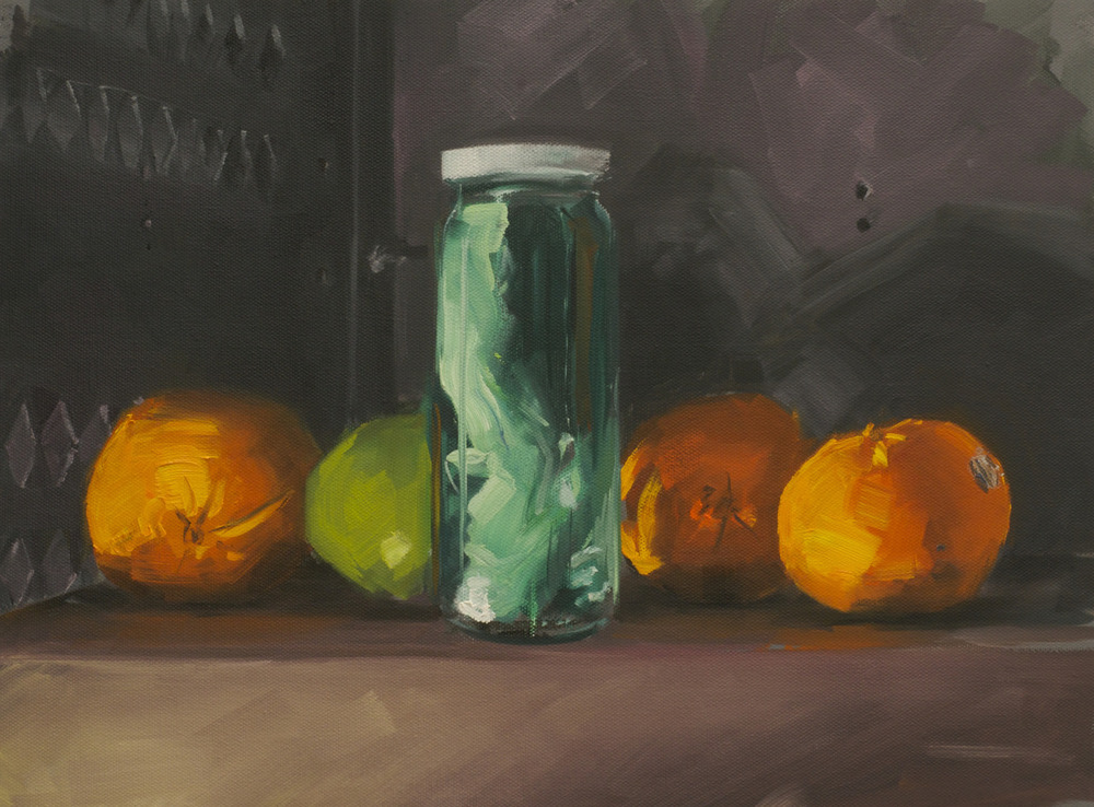 "Full Spectrum Still-Life (Transparent Objects, Color Liquid) 2014 12""x16"""