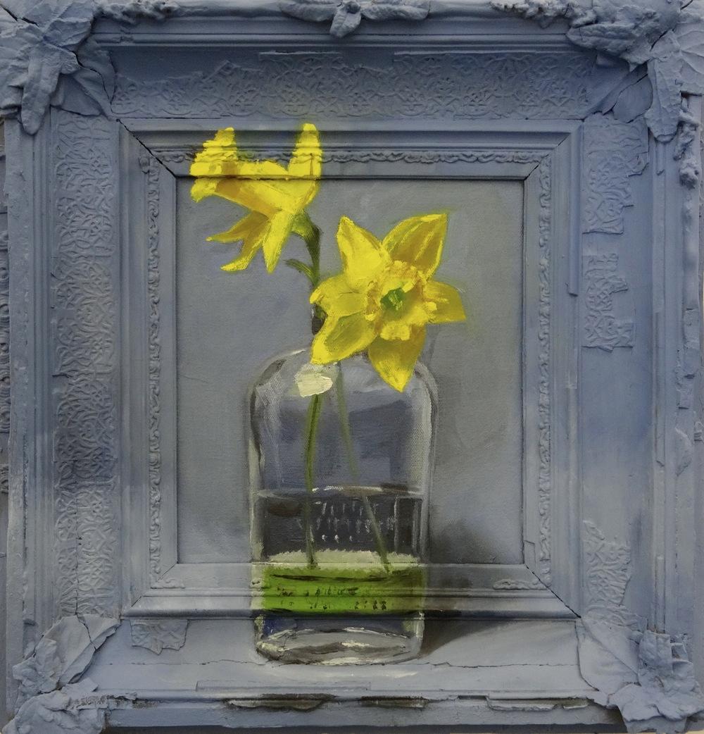 "Daffodils 2016  20""x20"""