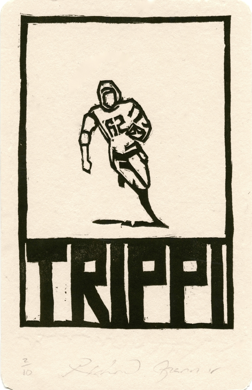 "Trippi, Heroes of the Southland 2016, 3.75""x5.75"""