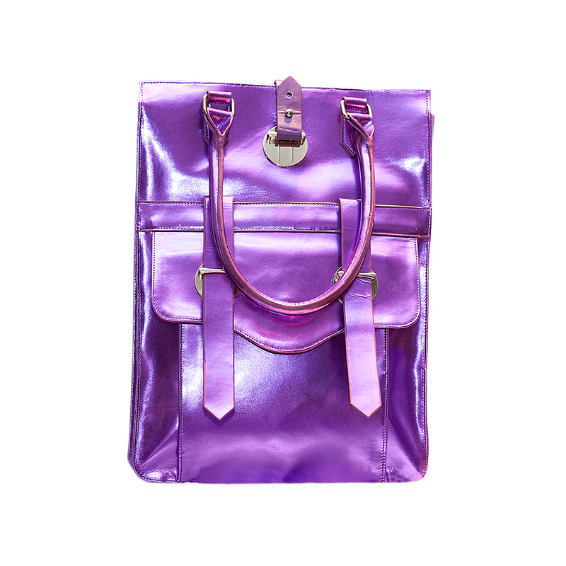 Paris Satchel Patent Purple front.jpg