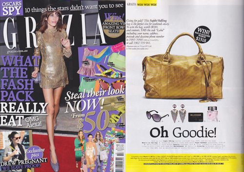 GRAZIA MARCH 2012  Ruben Overnight Bag | Bronze