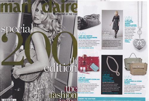MARIE CLAIRE APRIL 2012  Ruben Overnight Bag | Black