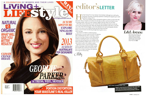 LIVING + LIFESTYLE MAGAZINE JANUARY 2013  Editors Pick  Petite Ruben Bag | Sunflower & Lemon Croc