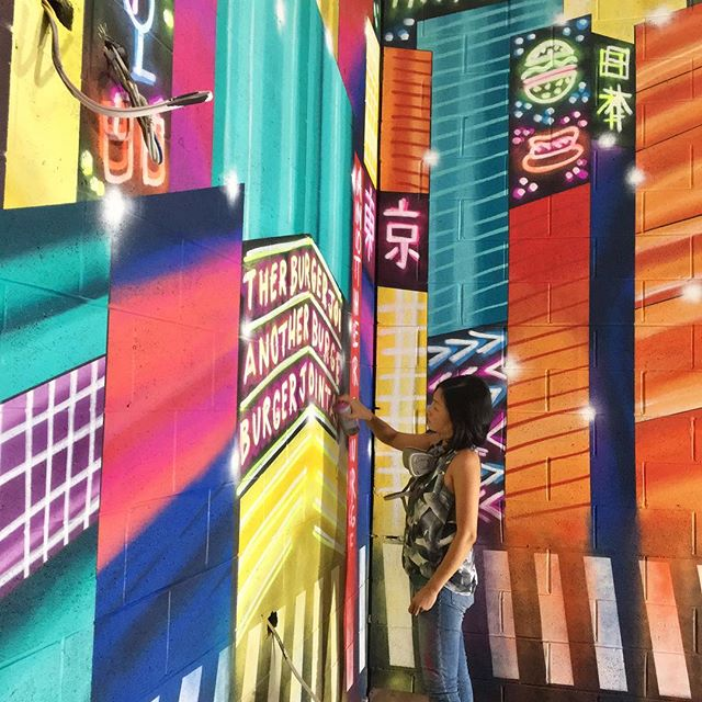 Almost done 🏙🇯🇵 Inspired by one of my favourite places in the world #shibuyacrossing #shibuya 🌟 For the guys at @anotherburgerjoint @lakemacquariesquare 😊 Paints thanks to @567king @mtnaustralia #lakemacquarie #mural #japanstreetart