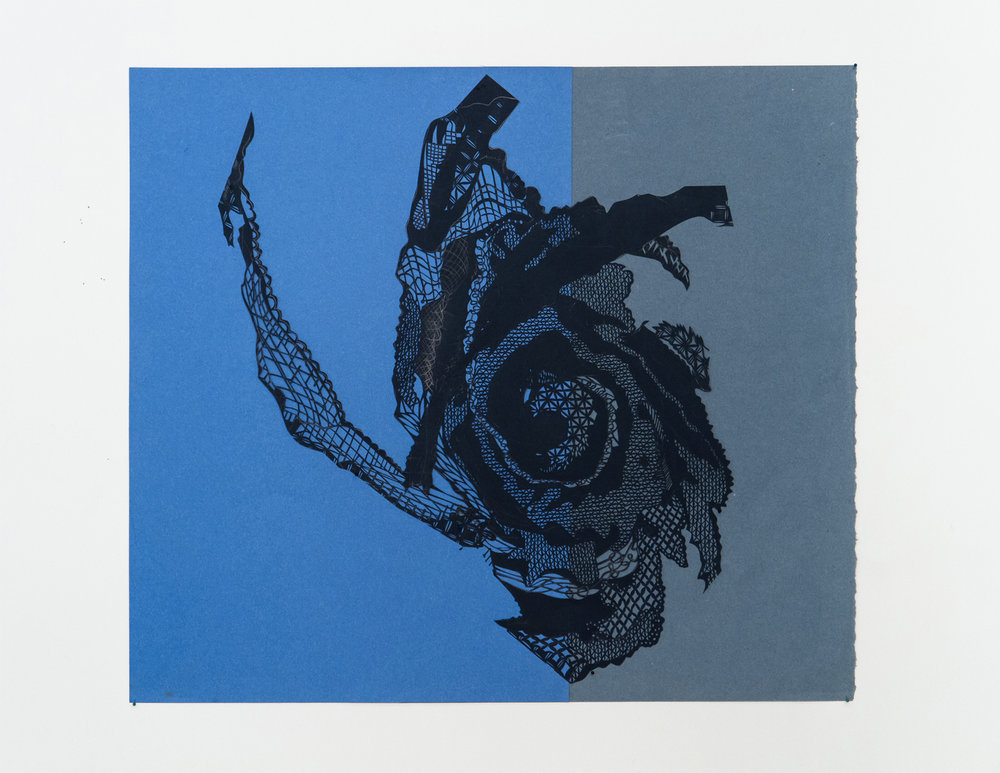 Luis  2012, 30 in x 35 in, cut paper, collage.