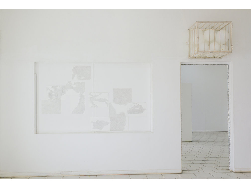 Untitled 1 (Ateliers '89), Graphite on paper, 11 sheets (polyptych) 30cm x 40cm each, 2016. Photo courtesy of Charlie Godet Thomas