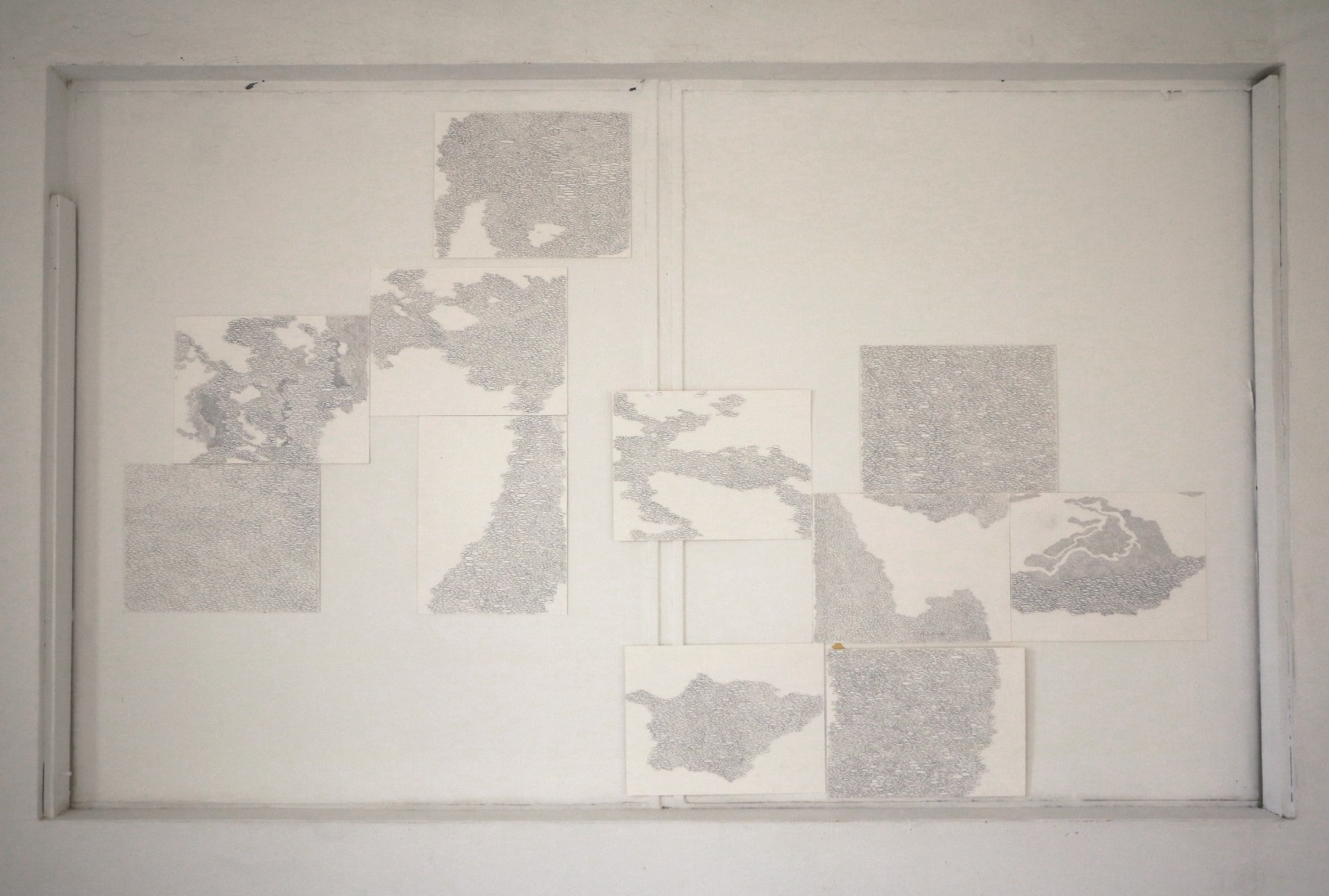 37f2e5c1358 Untitled 1 (Ateliers '89), Graphite on paper, 11 sheets (polyptych