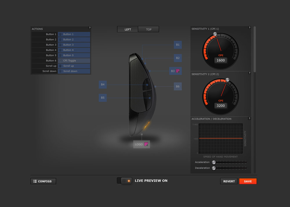 Rival Mouse UI - mouse sideview