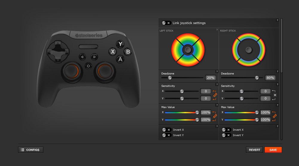 Stratus XL customization interface