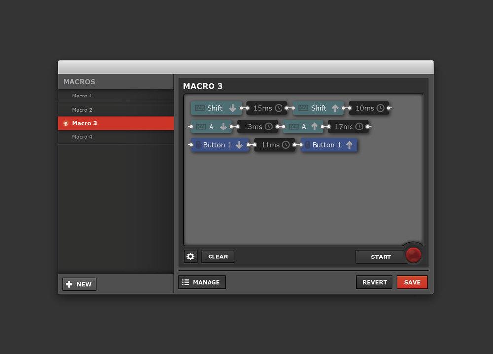 Macro Editor interface