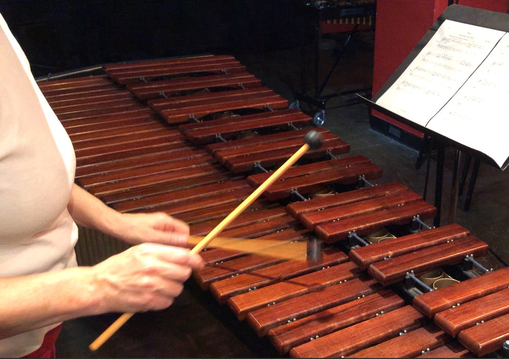 Heather Barringer, artistic co-director Zeitgeist, on marimba.jpg