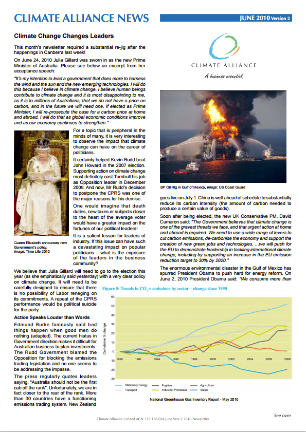 Climate Alliance Newsletter - June 2010