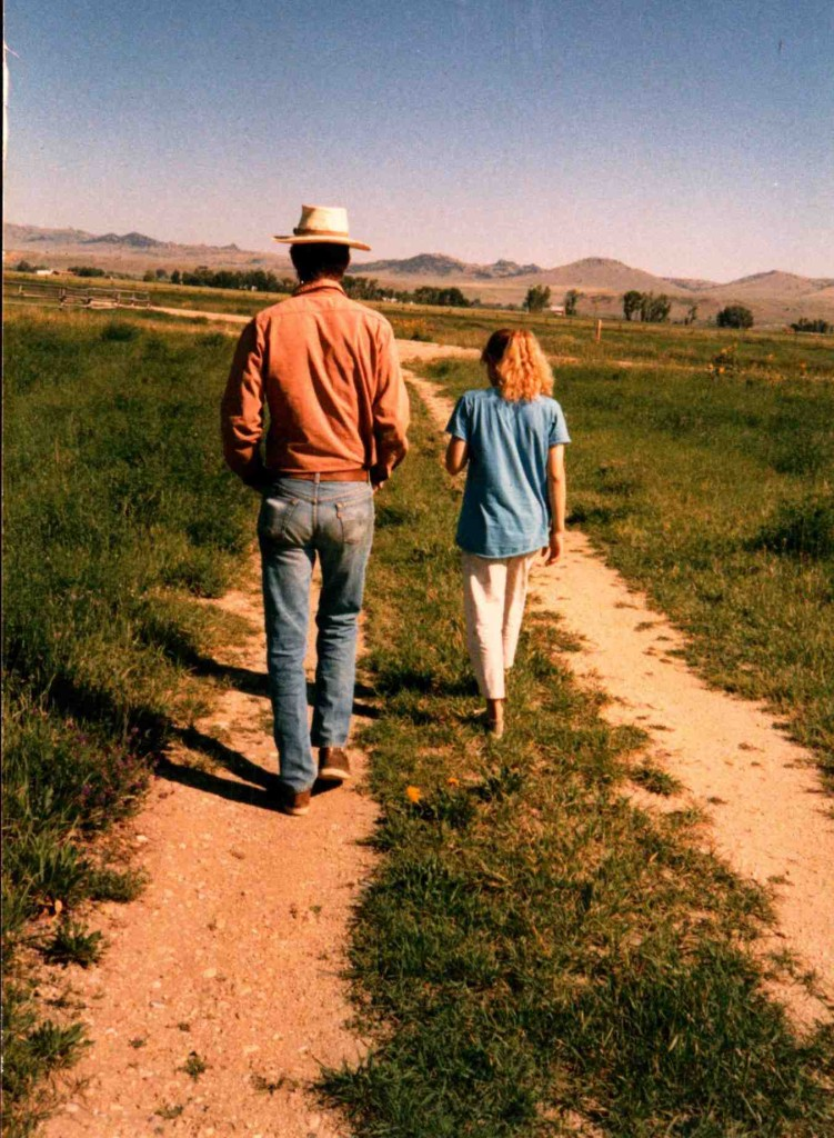 Father & daughter, Ennis, Montana