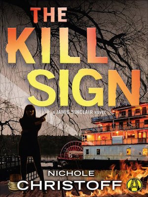 THE KILL SIGN  - JAMIE SINCLAIR #4Security specialist and PI Jamie Sinclair finds herself in deadly waters off the steamy Gulf Coast in this combustible thriller from the award-winning author of The Kill Box. Never in her life has Jamie Sinclair anticipated a weekend getaway more. After four months apart, she's flying to Mississippi to see her would-be boyfriend, military police officer Adam Barrett. Barrett's currently stationed in the same Gulf Coast town where Jamie got her start as a private investigator, and she's equally excited to reconnect with her old mentor, Ray Walther, and his pregnant wife, Corinne, who's Jamie's best friend. But all hopes for a relaxing and romantic weekend are shattered when a dirty bomb explodes on a riverboat packed with military, killing dozens of soldiers. In the chaotic aftermath, Jamie believes that she spots the bomber—and recognizes him from her past. As Barrett and Jamie race to catch the terrorist before he strikes again, Ray and Corinne become targets themselves. And this time around, Jamie won't let a little thing like the law keep her from protecting the people she loves most—no matter the cost.