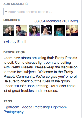 Set the description as to exactly why the group exists and what the rules are.