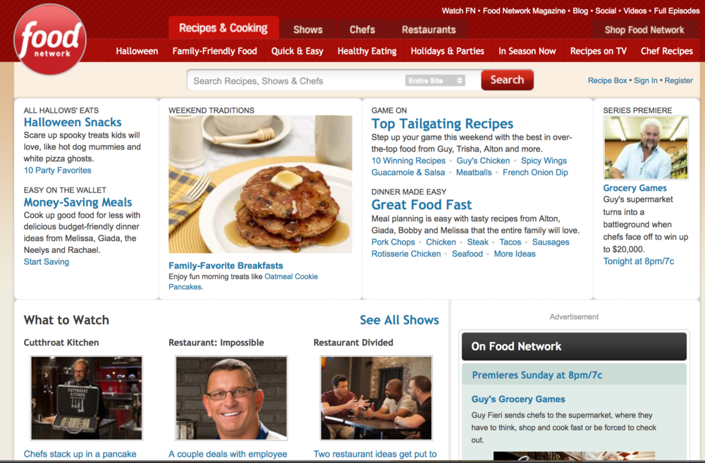 FoodNetwork.com in 2013.
