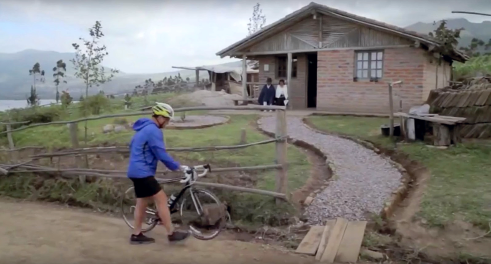 Rafael Correa riding a bike. TV Spot