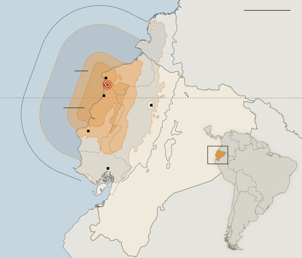 7.8 earthquake in Ecuador