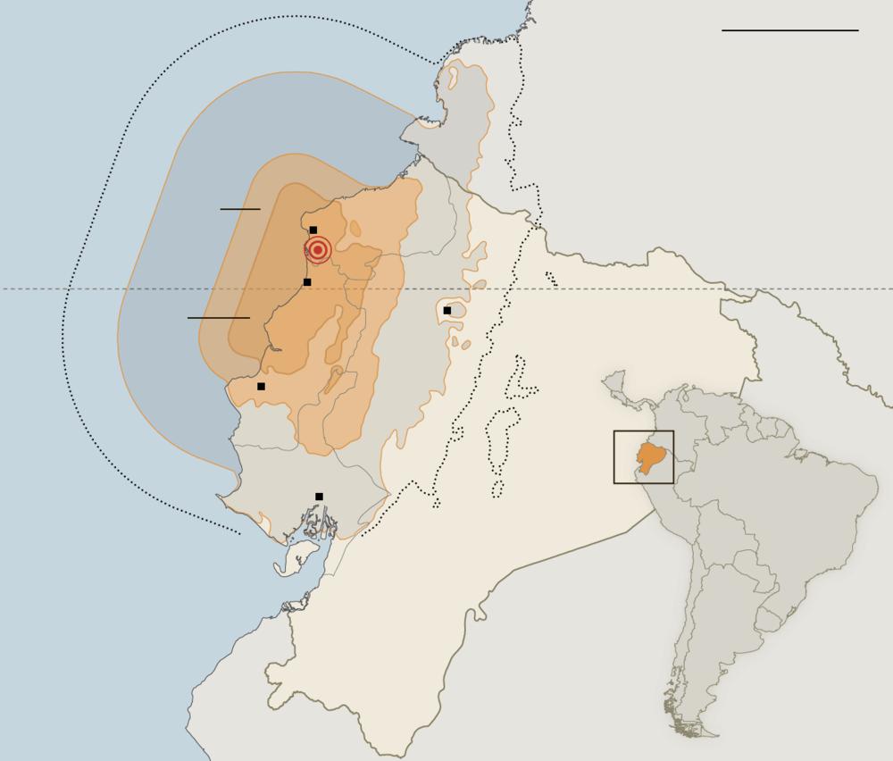 7.8 earthquake in Ecuador