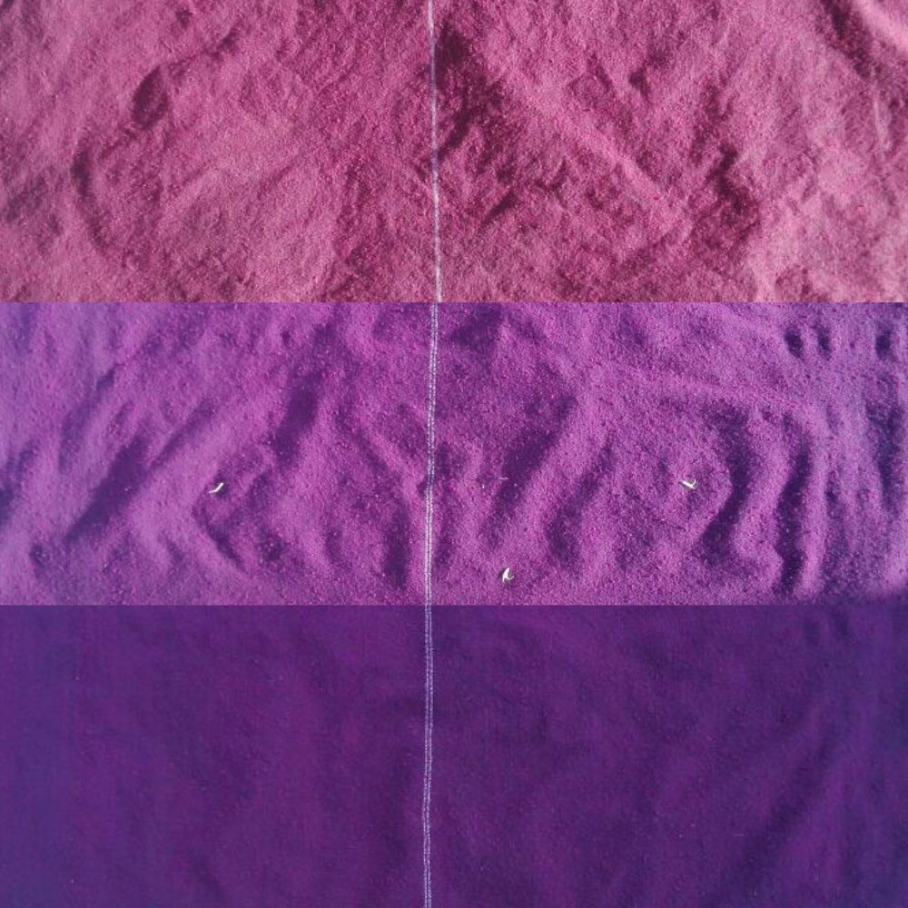 Variety of purples made with natural pigments.