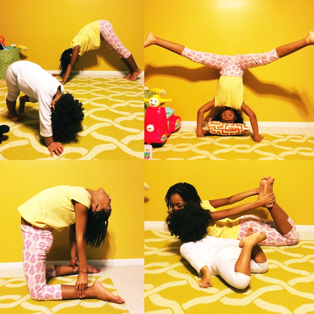 Kids Yoga! Yoga is a great way for kids to connect to their bodies, stay focused and calm themselves. Try adding 15 mins a day or after a meltdown!
