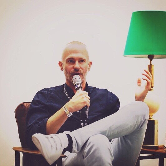 Monsieur @allenbarg + a green💡representing dotBC at @primaverapro last month. Photo by: @seedandclick