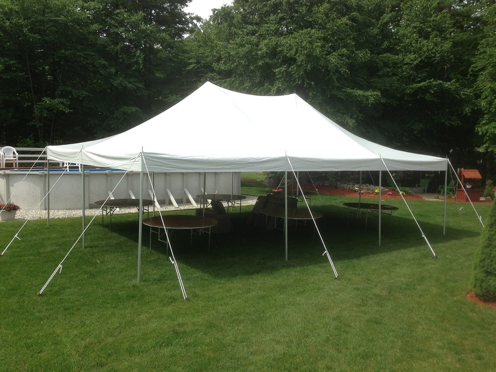 How big of a tent do I need for 75 guests?