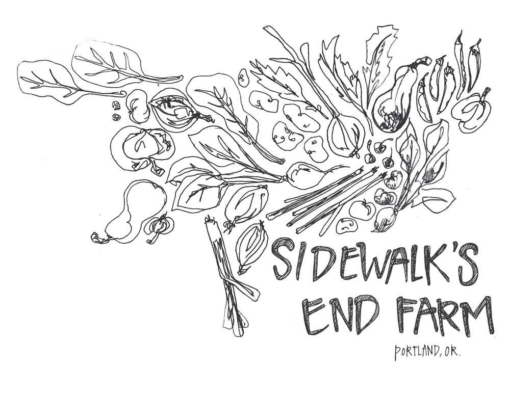 Sidewalk's End Farm  Portland, OR  Logo for web & print  2010