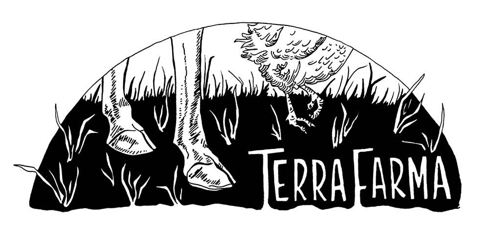 Terra Farma    Corbett, OR  Logo design for web & print  2014   (See also Terra Farma block print)