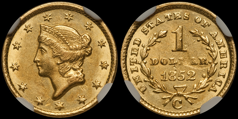 1852-C $1.00 NGC MS61