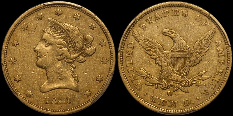 1841-O $10.00 PCGS EF40 CAC