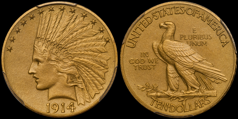 1914 $10.00 PCGS PR65 CAC