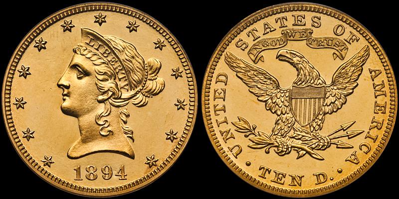 1894 $10.00 PCGS PR64 Deep Cameo CAC
