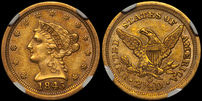 1845-O $2.50 NGC AU58 CAC