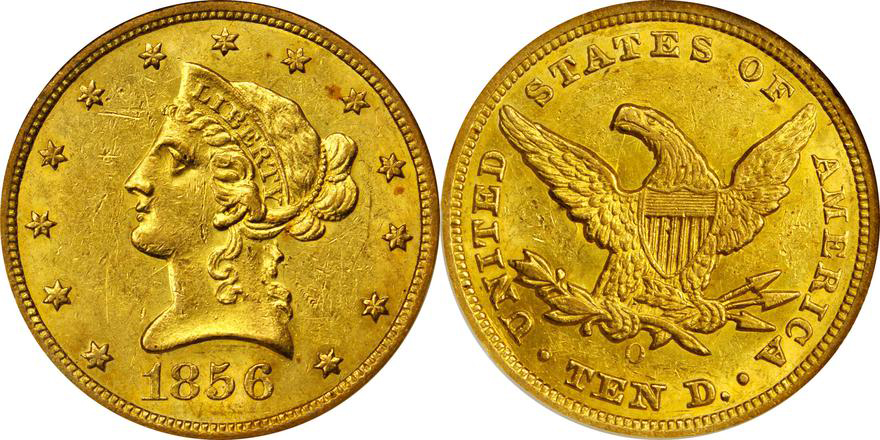 1856-O NGC MS60, Lot 2154, courtesy of Stack's Bowers