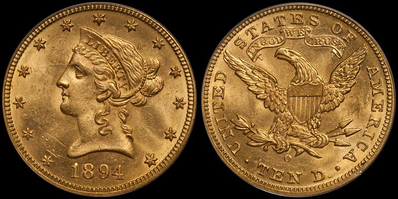 1894-O $10.00 PCGS MS63 CAC