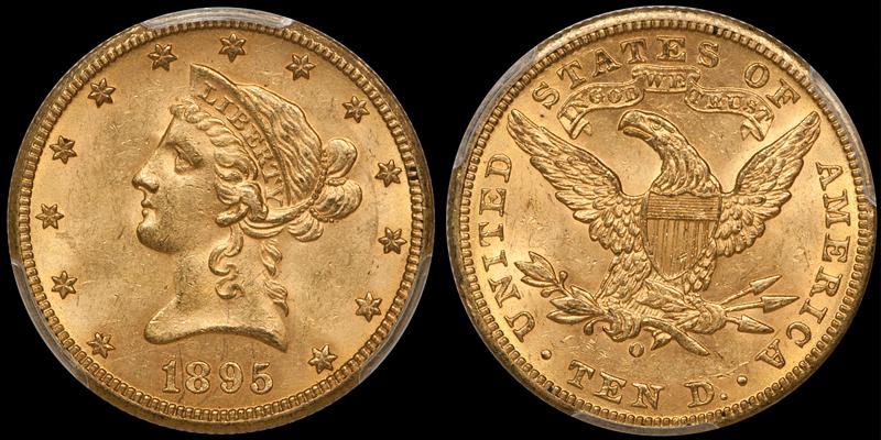 1895-O $10.00 PCGS MS63 CAC