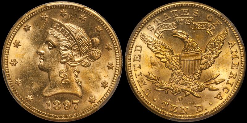 1897-O $10.00 PCGS MS63 CAC