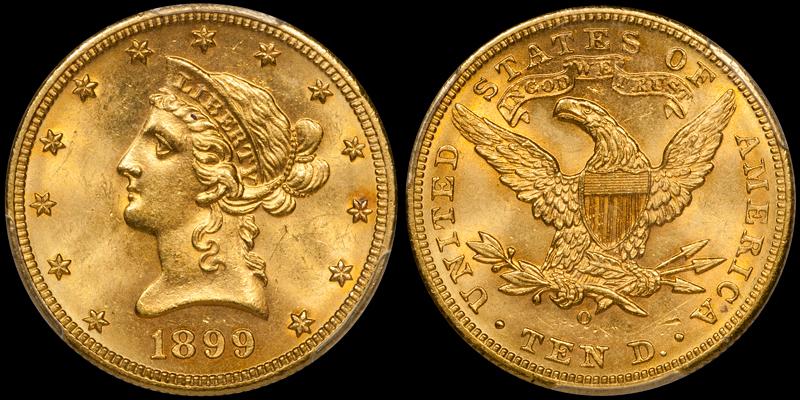 1899-O $10.00 PCGS MS64 CAC