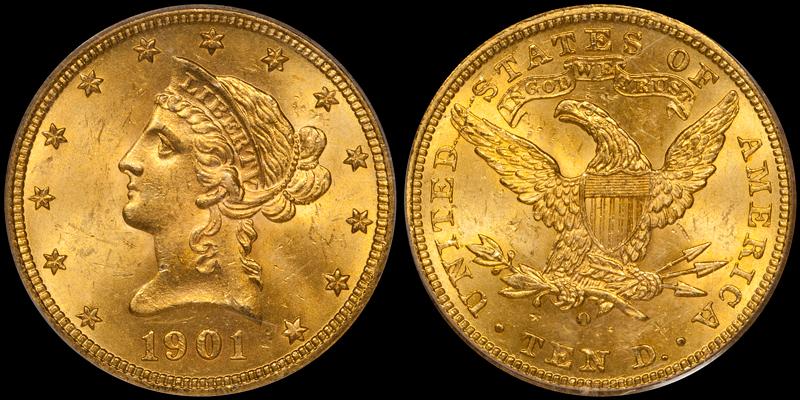 1901-O $10.00 PCGS MS64