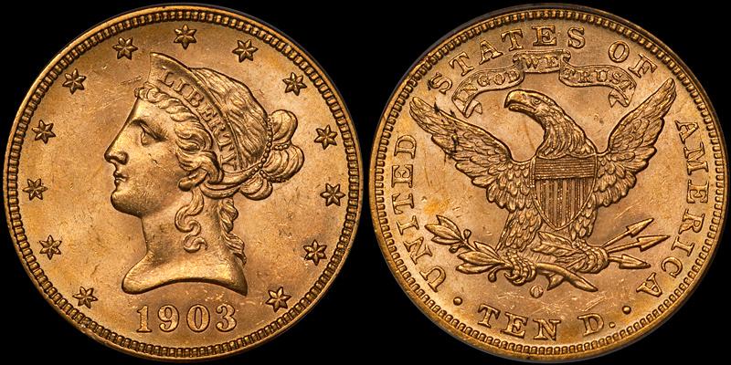 1903-O $10.00 PCGS MS64 CAC
