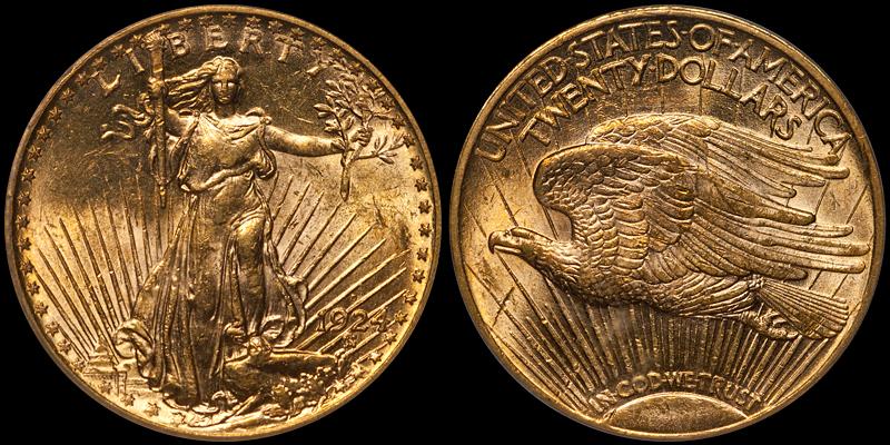 1924-D $20.00 PCGS MS63
