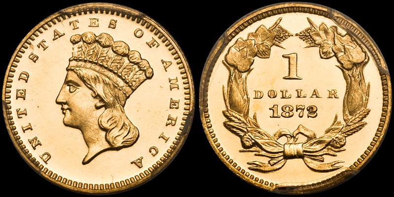 1872 $1.00 PCGS PR66 Deep Cameo CAC