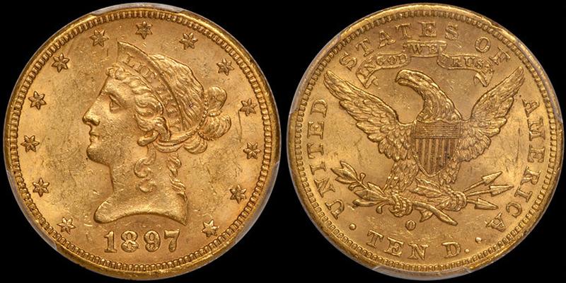 1897-O $10.00 PCGS MS62 CAC