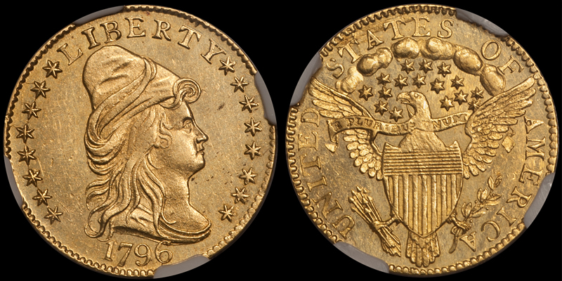 1796 With Stars $2.50 NGC MS63★