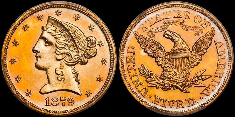 1879 $5.00 PCGS PR64CAM